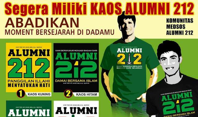 Kaos alumni 212 beredar aksinbela islam