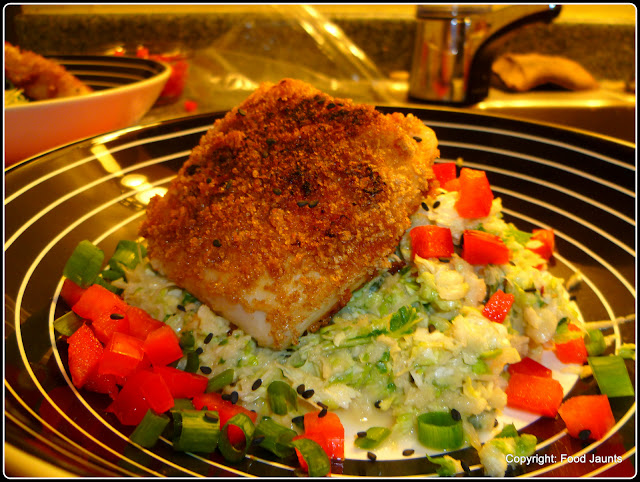 Miso Crusted Fish Salad