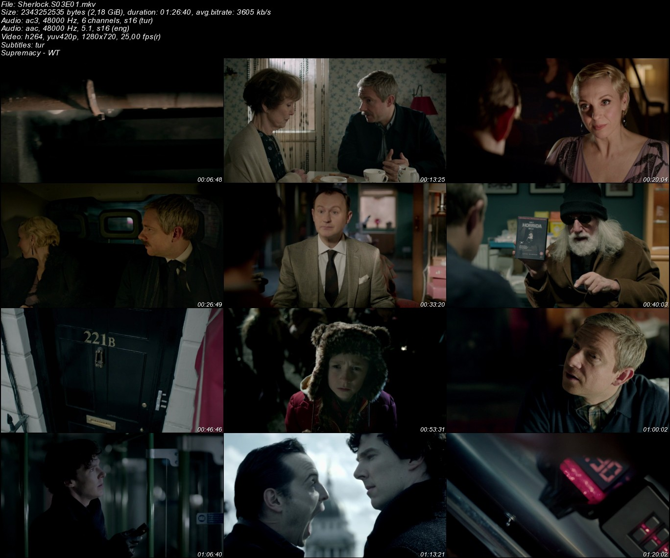 Sherlock - 2010 Sezon 1-2-3-4 Dual 720p BluRay indir