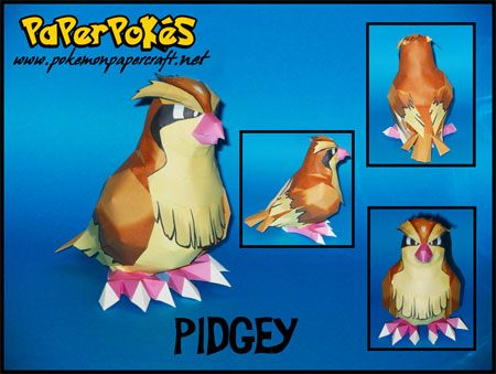 Pokemon Pidgey Paper Model
