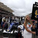 Marcus Ericsson, grid girl Circuit of the Americas.