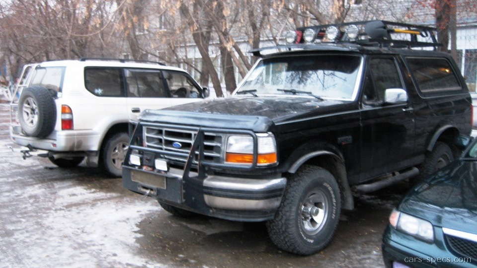 1993 ford bronco suv specifications pictures prices. Black Bedroom Furniture Sets. Home Design Ideas