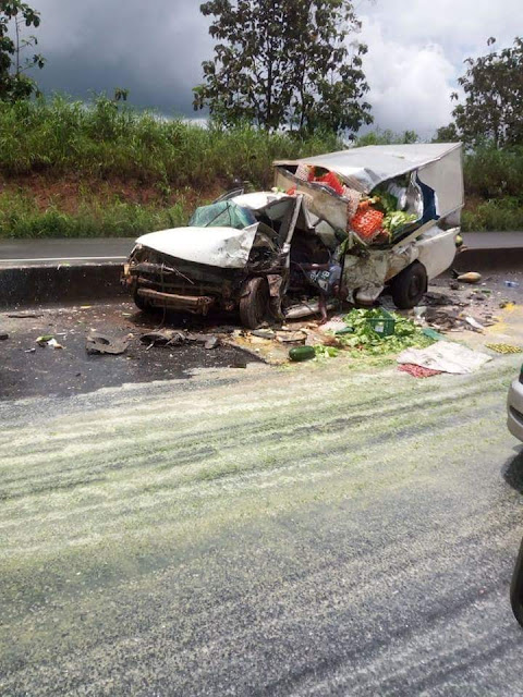 REPORTERS PLUS: one person was killed in a fatal accident two days ago along Benin-Ore road to Lagos