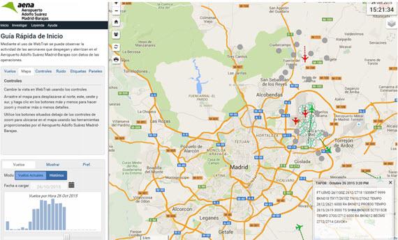 Mejorado el Mapa Interactivo de Ruido del Aeropuerto de Barajas