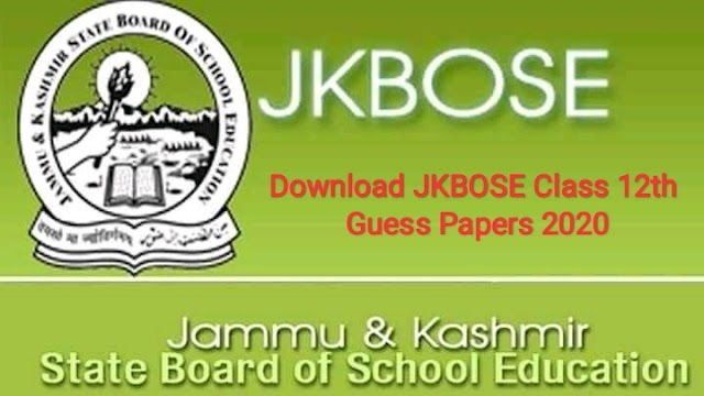 Download JKBOSE Class 12th Guess Papers 2020 | Physics, Political Science, Education