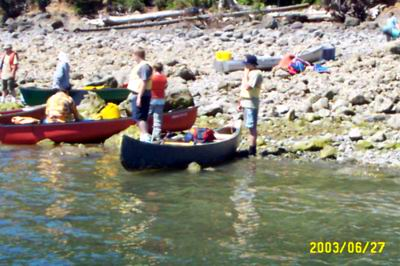 Open Water Canoe  - Hood Canal - July 2003 - image.jpg