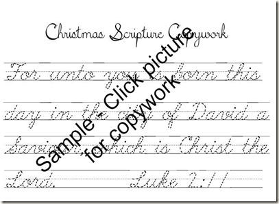 Christmas Scripture Copywork