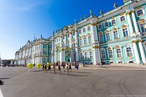 Hermitage St Petersburg Russia exterior dancing girls
