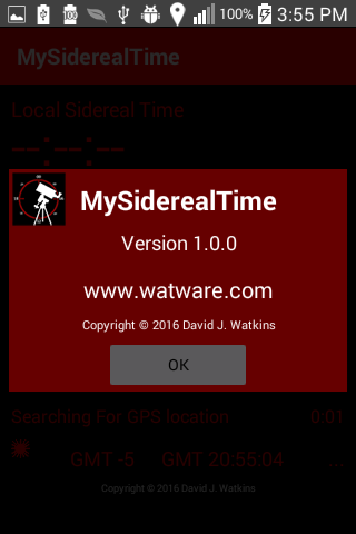 MySiderealTime- screenshot