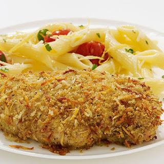 Crispy Garlic Chicken with Lemon Pasta Recipe