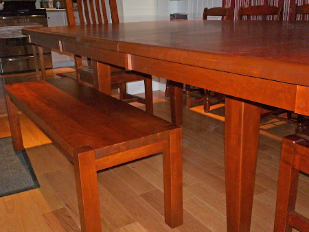 Phoenix Bench and Chairs with 88 x 51 Lancaster Table in Iconic Maple