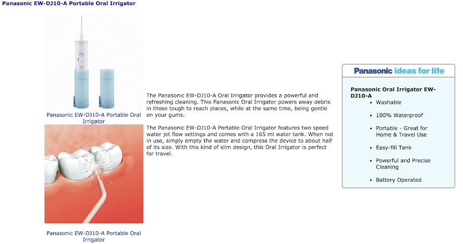 us panasonic ew dj10 a portable dental water flosser lazada malaysia. Black Bedroom Furniture Sets. Home Design Ideas