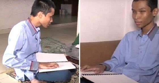 Kisah Boc4h Tun4netra Hafal Al Quran 30 Juz, Hanya dengan Mendengarkan Lewat MP3, Kisahnya Viral
