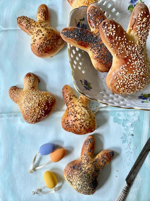 Hasenbrötchen zum Osterfrühstück
