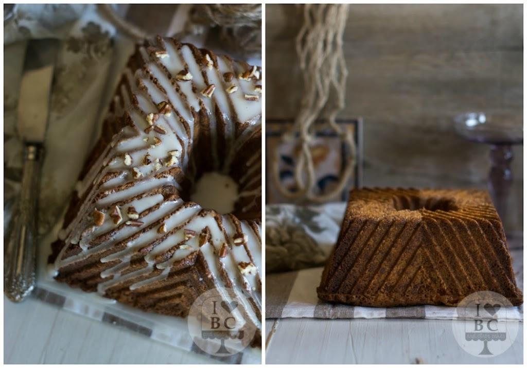Bundt cake de manzana y nueces pecanas