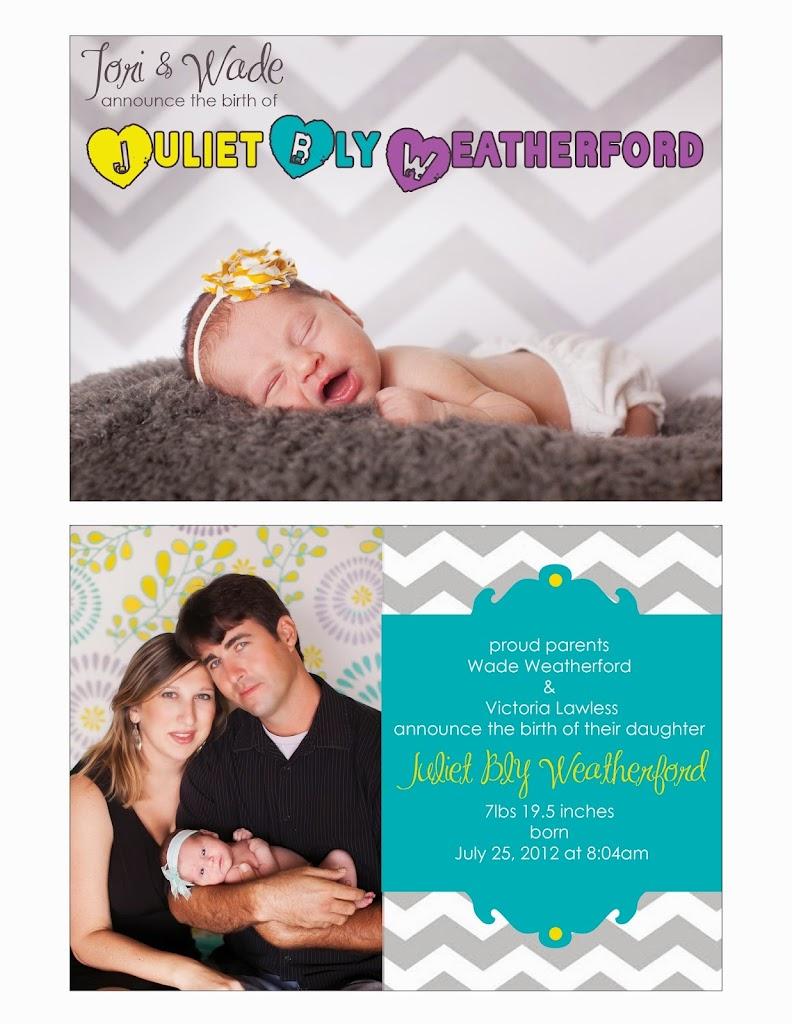 Juliet Birth Announcement