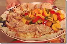 Pollo ripieno con peperoni