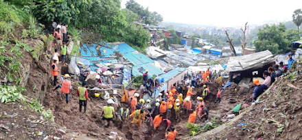Ινδία : 34 νεκροί στο Μουμπάι ύστερα από κατολίσθηση λόγω πλημμυρών
