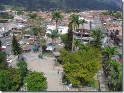 Casa de Gobierno y Parque Principal de San Antonio de Prado. Vista desde Torre de la Iglesia. Por Paola Montoya Valencia