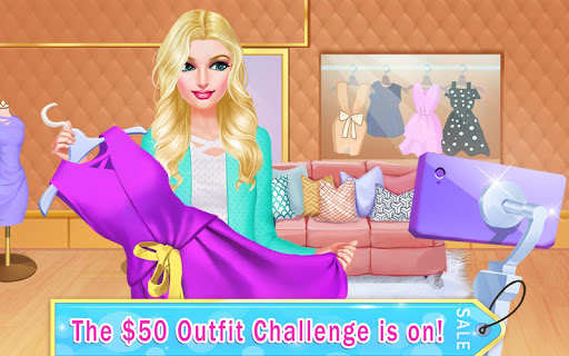 Blogger's $50 Outfit Challenge: Mall Girl Shopping 1.1 screenshots 1