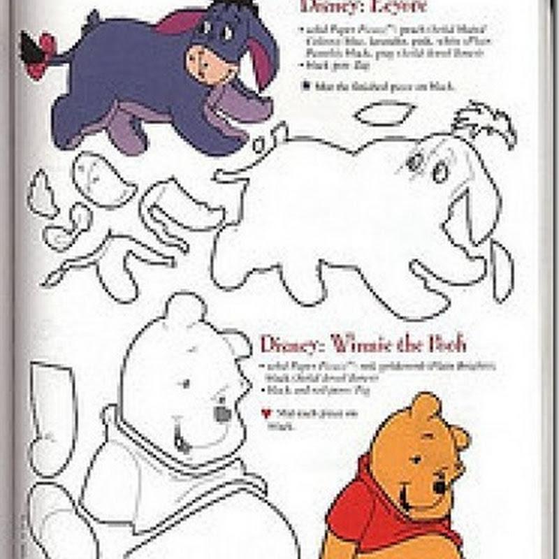 Winnie The Pooh moldes en Eva