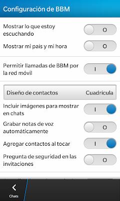 BBM Configuración