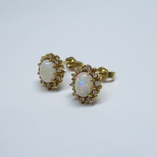 18K Gold & Opal Earrings