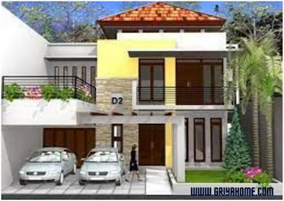 Desain Rumah Minimalis 2 Lantai Bergarasi Luas