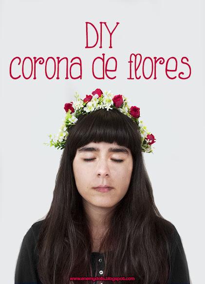 Como hacer una corona o diadema de flores | Manualidades