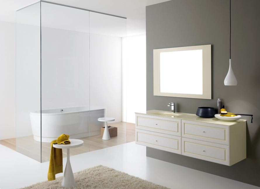 mobile da bagno classico modello Ducale laccato cm. 140, disponibile in varie misure .jpg