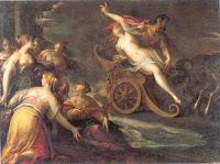 Η Περσεφόνη ήταν κόρη της Θεάς Δήμητρας, Πατέρας της ήταν ο Θεός Δίας και συζυγός της ο Άδης.