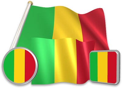 Malian flag animated gif collection