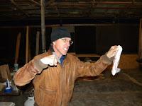 No bacon! Joe Sirotnak in rehearsal for Fuddy Meers