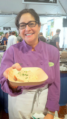 Feast 2014, Tillamook Brunch Village participant Lisa Schroeder of Mother's Bistro & Bar who was the consummate professional and mother who never ran out and was superfast at doling out her delicious buttermilk biscuits with sausage gravy to nourish the hungry masses