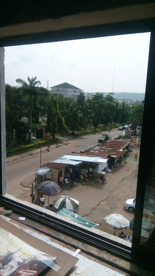 Thugs Attempt To Break Into Palliatives Warehouse In Abuja (Pictures)