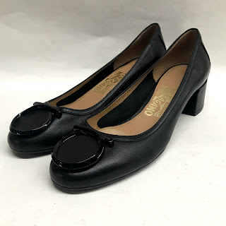 NEW Salvatore Ferragamo Leather Low Heels