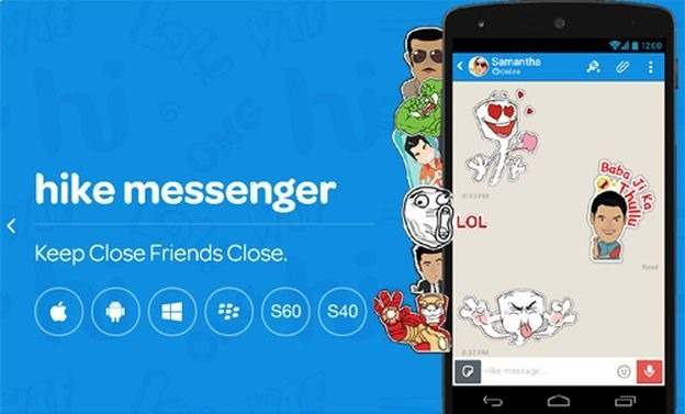 hike messenger android phones