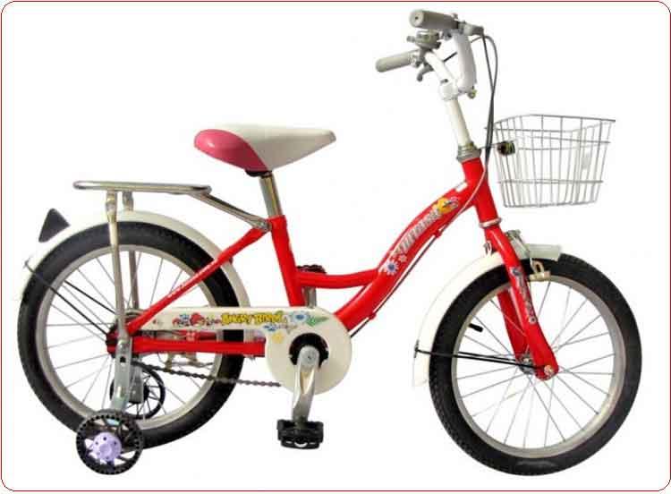 Xe đạp cho bé trai 16 inch màu đỏ.
