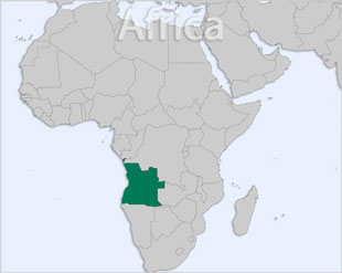 Angola location map