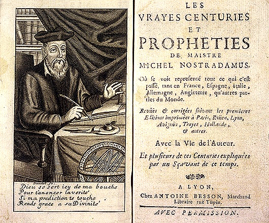 MICHEL DE NOSTREDAME  French doctor & prophet   1503 - 1566