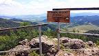 Zdjęcie wykonane na szczycie Wysoka (Wysokie Skałki) w Pieninach