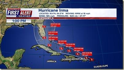 Ist Irma forecast