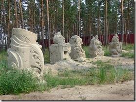 Ouss-Kout sculptures de sable