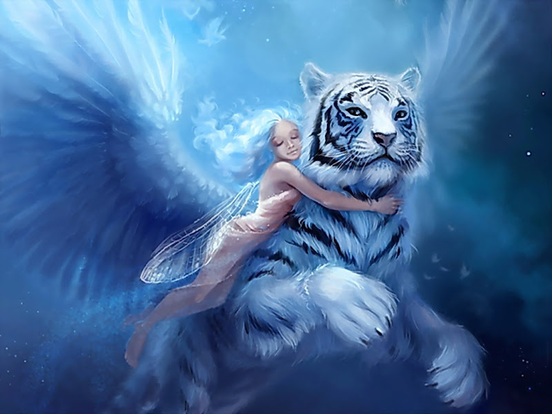 Angel With White Tiger, Angels 3