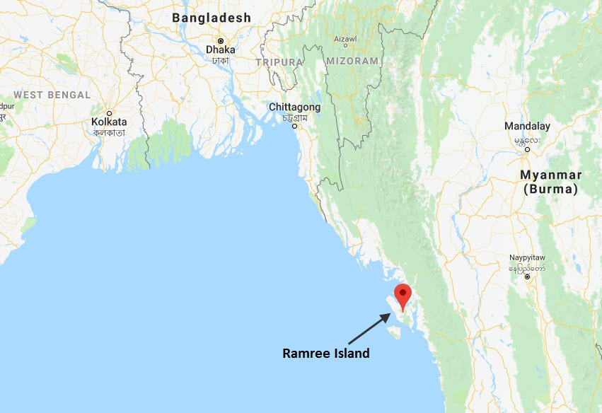 ramree-island-map