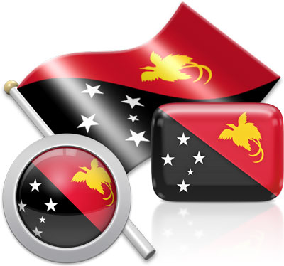 Papua New Guinean flag icons pictures collection