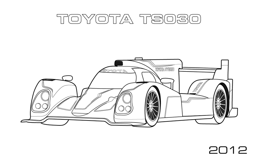 Le Mans Prototypes Car Coloring