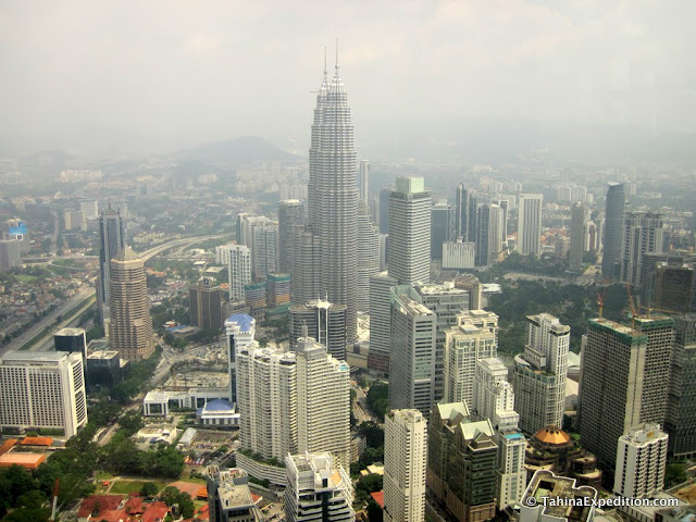 Petronas Towers and area from KL Tower