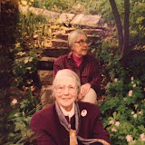 Lawton sisters.  Front: Louie Lawton Back: Bessie Weatherston