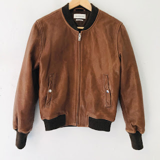 Isabel Marant Étoile Brown Lamb Leather Bomber Jacket